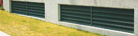 Fixed basement standard louvres