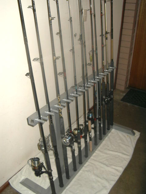 Homemade fishing rod storage car interior design for How to store fishing rods